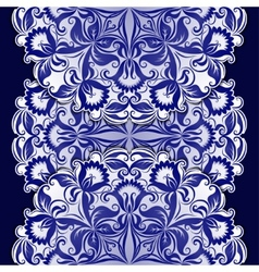 Filigree pattern with vintage ornament vector image