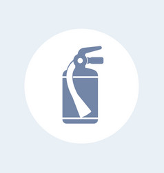 fire extinguisher icon isolated on white vector image vector image