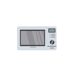 Flat style front view picture of microwave oven vector