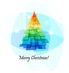 Geometric christmas tree vector