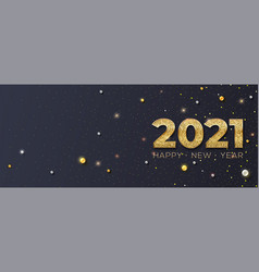 happy new year 2021 glittering golden dust and vector image