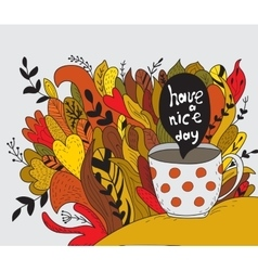 Have a nice day Autumn doodle vector image