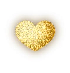 heart golden glitter isoleted on white background vector image