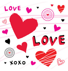 heart love cute cartoon vector image