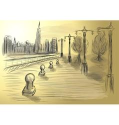 hudson river new york vector image