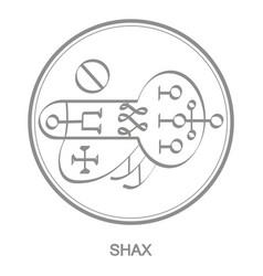 Icon with symbol demon shax vector