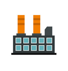 industrial factory building icon flat style vector image