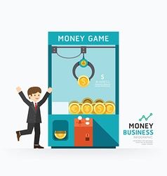 Infographic business claw game template vector image
