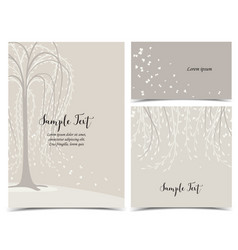 Invitation card with tree vector