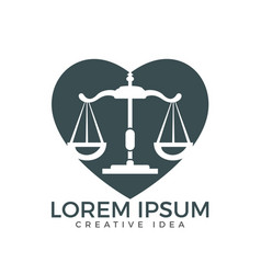 law and attorney logo design vector image