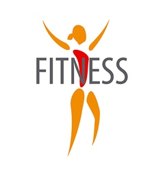 Logo figure of the girl for a fitness club vector