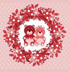 love cute emblem vector image
