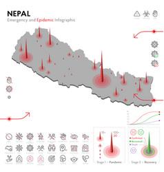 Map nepal epidemic and quarantine emergency vector