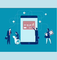 mobile payments service concept business vector image