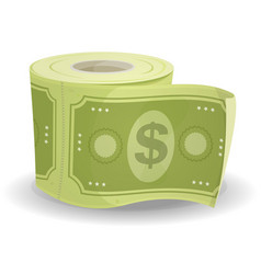 monkey paper dollars vector image