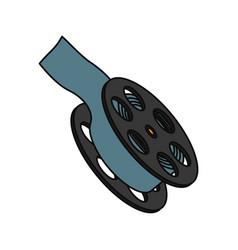 movie reel symbol vector image