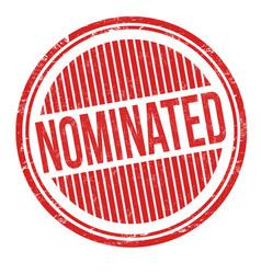 nominated grunge rubber stamp vector image