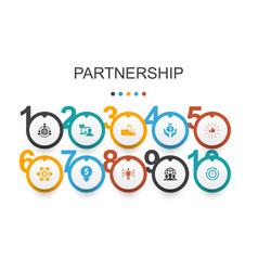 Partnership infographic design template vector