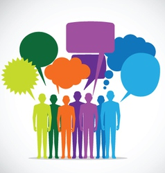 People Colorful Speech Bubbles vector