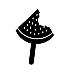 popsicle ice watermelon icon vector image