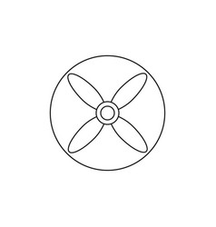 propeller icon vector image