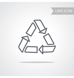 Recycle Icon Conceptual Symbol vector
