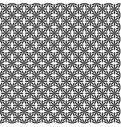Repeating abstract monochrome stylized flower vector