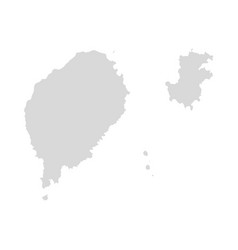 sao tome and principe map isolated travel vector image