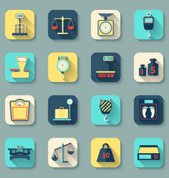 Scales Weight Icons Flat vector image