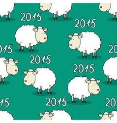 Seamless pattern of funny sheep vector image