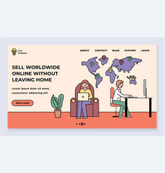 sell worldwide online from home dropshipping web vector image