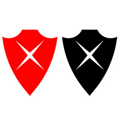 shield cross icons vector image
