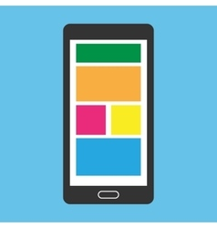Simple smart mobile phone vector image