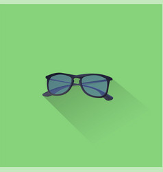 simple sunglasses icon on green background eps vector image