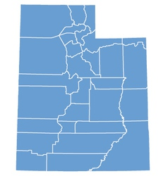 State map of Utah by counties vector image