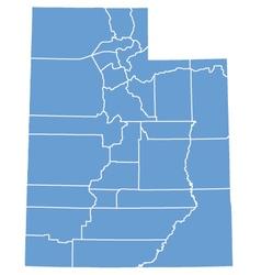 State map utah counties vector
