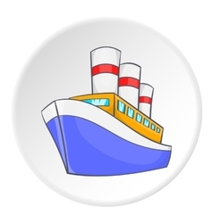 Steamship icon isometric style vector