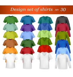 t-shirt template vector image