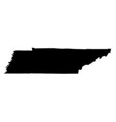 tennessee tn state border usa map solid vector image