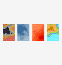 vertical banners set with 3d abstract background vector image