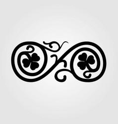 vintage floral swirl design element vector image