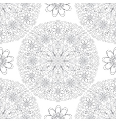 Vintage seamless pattern with lace circles vector