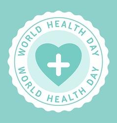 Vintage World Health Day Celebrating Card or vector