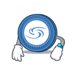 Waiting syscoin mascot cartoon style vector
