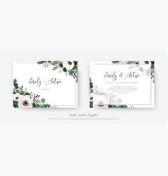 wedding invite invitation card floral design vector image
