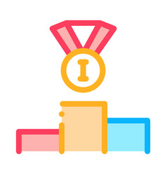 winning medal for 1st place icon outline vector image