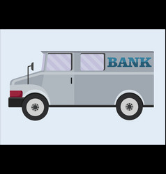 armored truck banking transportation of vector image vector image