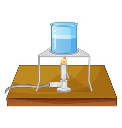 Beaker and burner vector image vector image