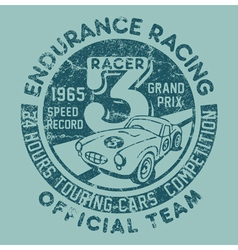 Endurance racing team vector image