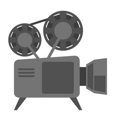 vintage movie camera with reel cartoon vector image